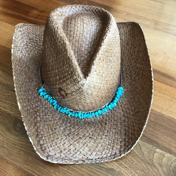 b75a00fd6 Charlie 1 Horse Straw Cowboy Hat w/ Turquoise band